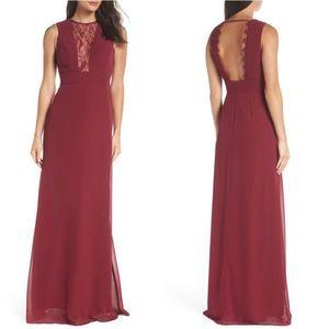 Hayley Paige Lace inset Sleeveless Maxi Dress 4